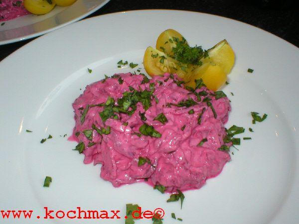 rote bete salat mit joghurt