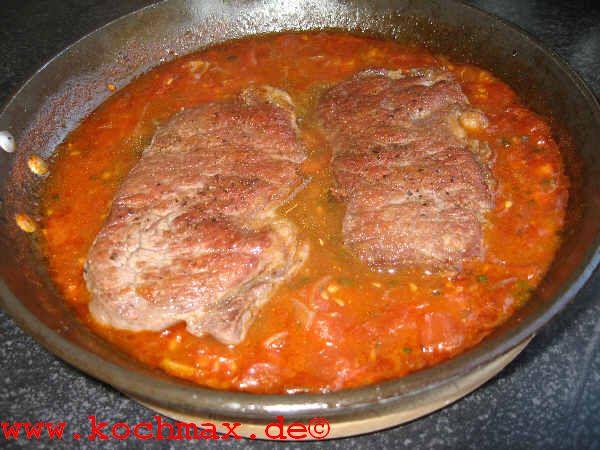 steak orangen sahne soße